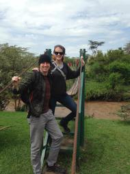 Two Longnecks Travel to AFRICA: Day 7, Hot Air Balloon Ride Over the Mara